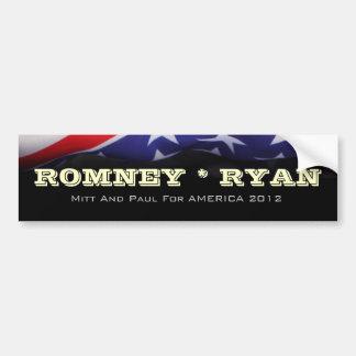 Adesivo Para Carro Romney/autocolante no vidro traseiro bandeira de