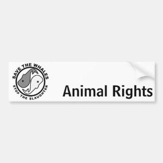 Adesivo Para Carro Salvar as baleias - direitos dos animais