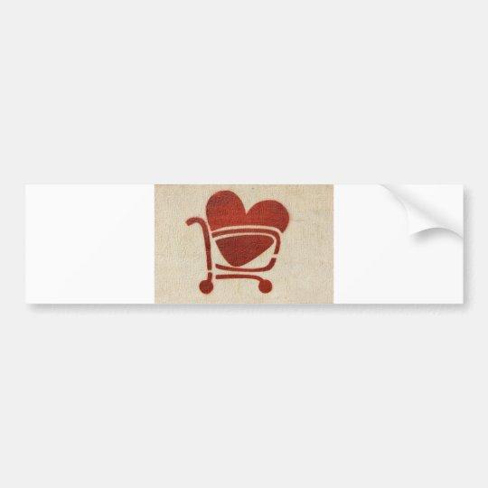 Adesivo Para Carro Shopping Cart Heart