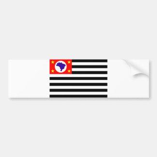 Adesivo Para Carro Símbolo de Brasil da bandeira da cidade de Sao