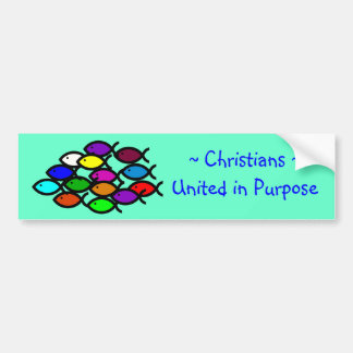 Adesivo Para Carro Símbolos cristãos dos peixes - escola do arco-íris