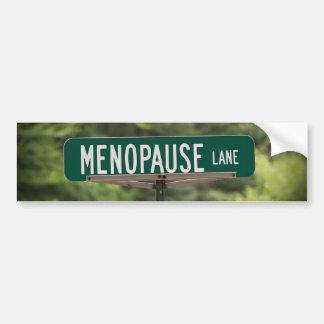 Adesivo Para Carro Sinal da pista da menopausa para um bom riso