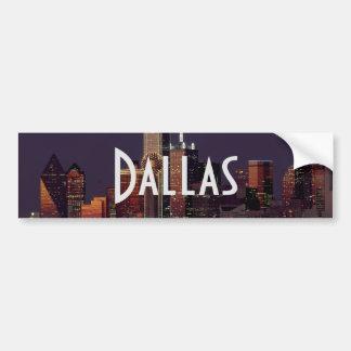 Adesivo Para Carro Skyline de Dallas na noite