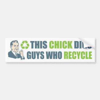 Adesivo Para Carro Slogan engraçado do reciclar do homem dos desenhos