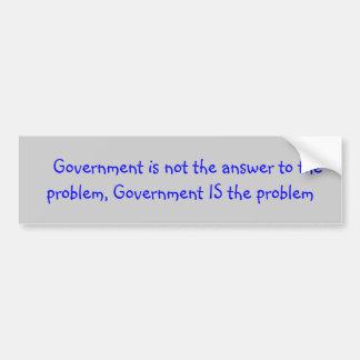 Adesivo Para Carro Slogan político sobre o governo