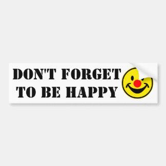 Adesivo Para Carro Smiley vermelho do nariz - amarelo + suas ideias