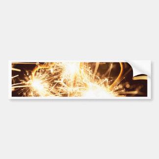Adesivo Para Carro Sparkler ardente no formulário de um coração