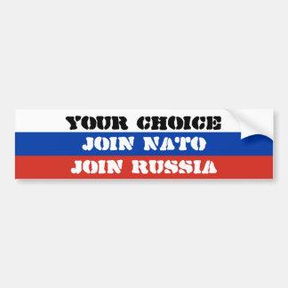 Adesivo Para Carro Sua escolha, junta-se à OTAN ou junta-se a Rússia