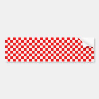 Adesivo Para Carro Tabuleiro de damas clássico vermelho e branco
