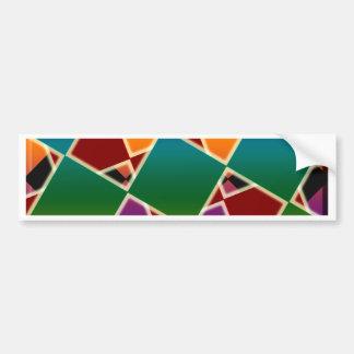 Adesivo Para Carro Teste padrão esquadrado colorido telhado