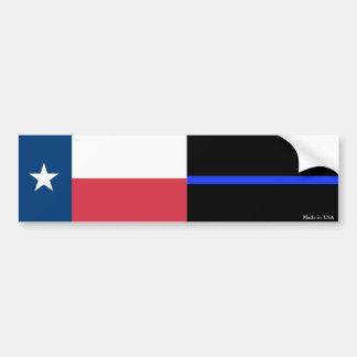 Adesivo Para Carro Texas & a polícia diluem o autocolante no vidro