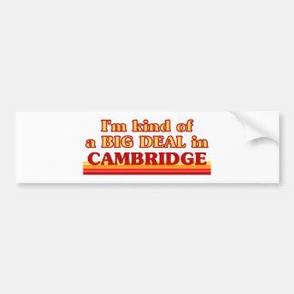 Adesivo Para Carro Tipo de I´m de uma grande coisa em Cambridge