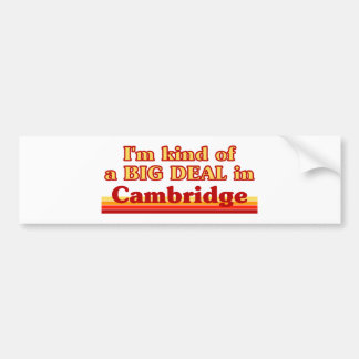 Adesivo Para Carro Tipo de I'm de uma grande coisa em Cambridge