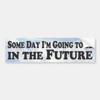 Adesivo Para Carro Um dia o futuro - autocolante no vidro traseiro