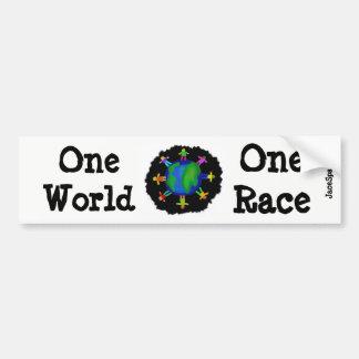 Adesivo Para Carro Um mundo, uma raça