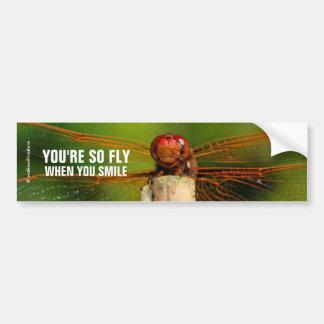 Adesivo Para Carro Uma libélula vermelha de sorriso