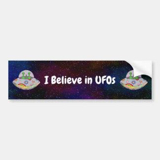 Adesivo Para Carro Vêm no UFO que da paz eu acredito em UFOs