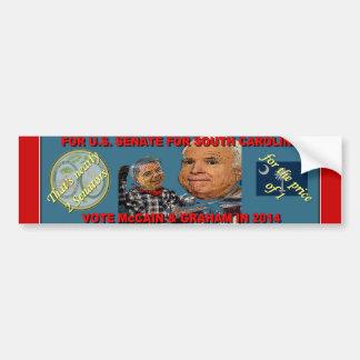 Adesivo Para Carro Vote McCain & Graham - quase 2 para o preço de 1