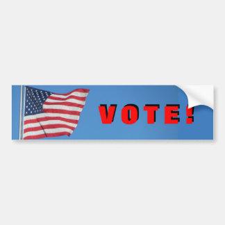 Adesivo Para Carro Voto!  com vermelho da bandeira dos EUA