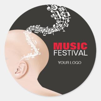 Adesivo para o festival de música