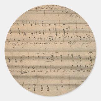Adesivo Partitura antiga, canção do ancião, 1822