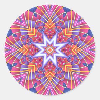 Adesivo Pastels silenciado do caleidoscópio do Fractal