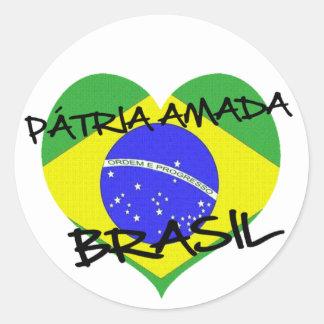 Adesivo Pátria Amada Brasil