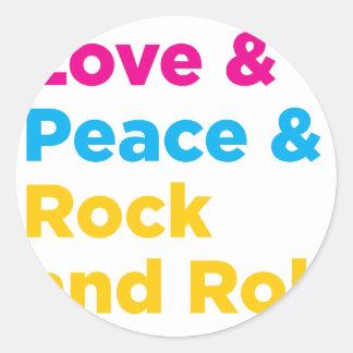 Adesivo Paz & amor & rock and roll