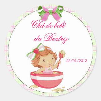 Adesivo Personalizada para Latinhas Chá de Bebê