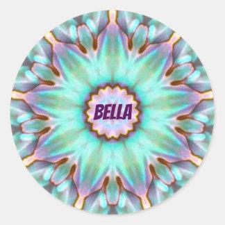 Adesivo ~ personalizado ~ do Fractal de BELLA Paua Shell