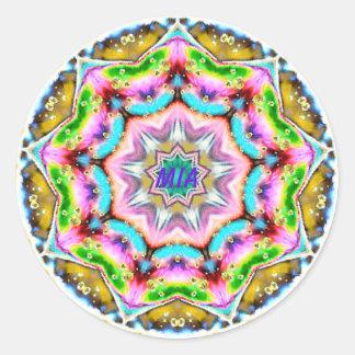 Adesivo ~ personalizado ~ do Fractal de MIA Paua Shell