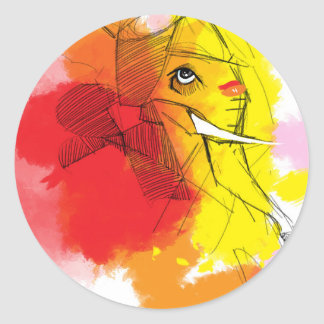 Adesivo pinturas de Ganesha do abtract