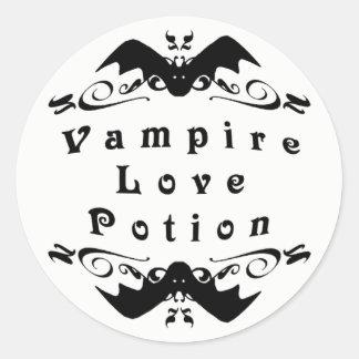 Adesivo Poção de amor o Dia das Bruxas do vampiro