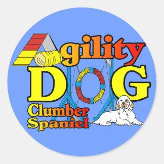 Adesivo Presentes da agilidade do Spaniel de Clumber