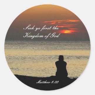 Adesivo Procure o primeiro reino de deus, Matthew 6, por