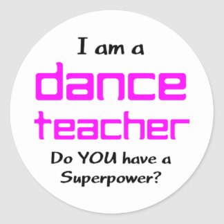 Adesivo professor da dança