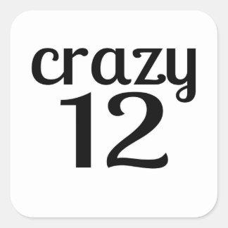 Adesivo Quadrado 12 designs louco do aniversário