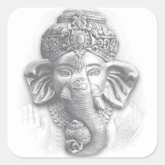 Adesivo Quadrado 3d senhor Ganesha - OM