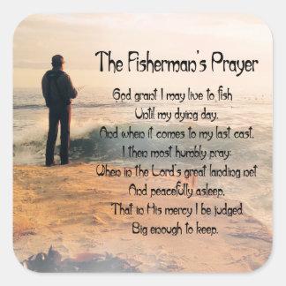 Adesivo Quadrado A oração de Fishermans