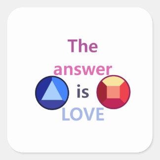 Adesivo Quadrado A resposta é o amor (v1)