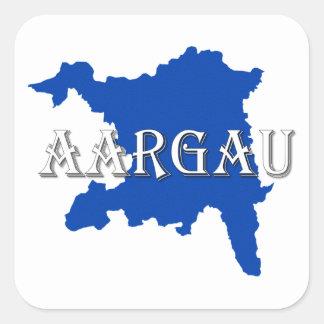 Adesivo Quadrado Aargau - Argovia
