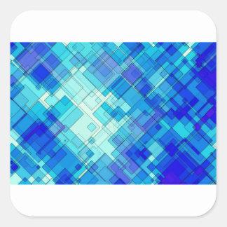 Adesivo Quadrado Abstrato do azul