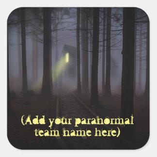 Adesivo Quadrado Adicione o nome da sua equipe Paranormal a esta