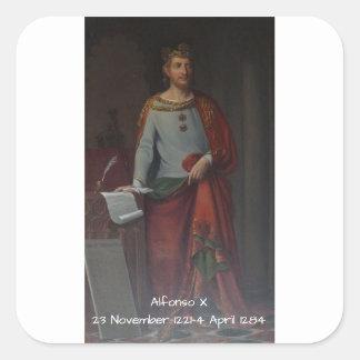 Adesivo Quadrado Alfonso X