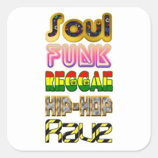 Adesivo Quadrado Alma, funk, reggae, hip-hop, delírio