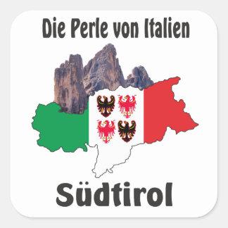 Adesivo Quadrado Alto Adige - Alto Adige Itália - Italia