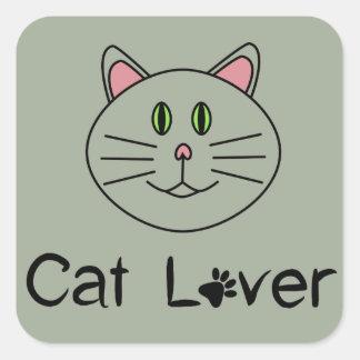 Adesivo Quadrado Amante do gato