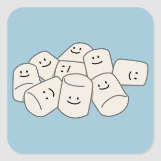 Adesivo Quadrado Amigo pegajoso do doce do sopro dos amigos felizes