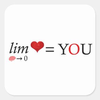 Adesivo Quadrado Amor da matemática
