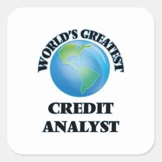 Adesivo Quadrado Analista de crédito do mundo o grande
